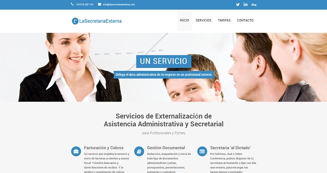 la secretaria externa web