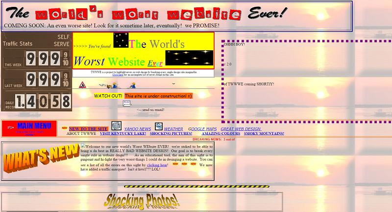 la peor web del mundo