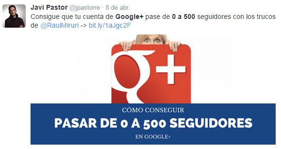google 0 a 500 tweet
