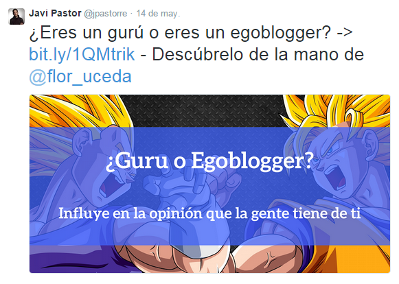 guru o egoblogger tweet