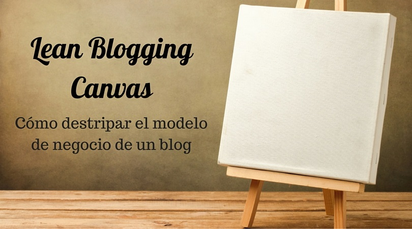 lean blogging canvas titulo